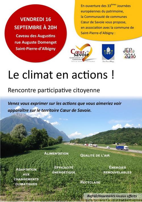 le climat en actions