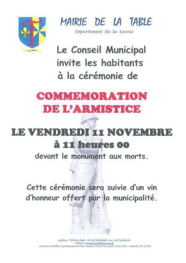 armistice 2016 La Table Savoie